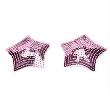 Ladies Sexy Sequined Tassel Star Stick On Pasties Breast Plain Nipple Cover HV