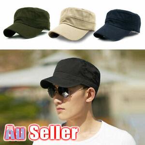 Army Plain Hat Classic Cadet Field Military Cap Style Patrol Baseball Adjustable