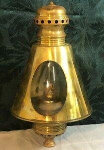 Rare Baldwin Locomotive Works Railroad Lantern / Gauge Lamp - Polished Beautiful