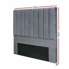 Artiss Queen Size Fabric Bed Headboard - Charcoal