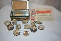 MATFER FRANCE PETIT FOURS TIN BOX W/ 69 METAL MOLDS MINI TARTS PASTRY TINS