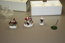 Department 56 Snow Village Sing a Song for Santa 56316 - Hand Painted Set of 3