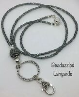 Clip /& Split Ring L1 Beaded Lanyard Necklace,ID Pass Holder,Multi Item Lanyard