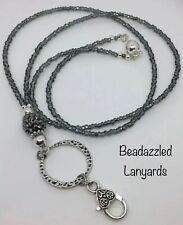 Beaded Lanyard Necklace, ID Pass Holder, Security Pass Holder, Handmade Gift, L1