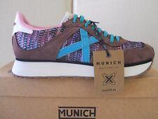 Munich donna scarpe Massana Ski sneakers pelle/tessuto Brown/verde n.38 €128