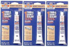3 ~ New PERMATEX 80007 FORM A GASKET 1A SEALANT Hard Setting Fast Drying  1.5oz