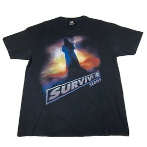 WWE Undertaker Survivor Series 2002 Tshirt Mens Large Black Double Sided