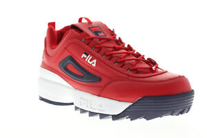 Fila Disruptor II Premium 1FM00139-616 Mens Red Casual Lifestyle Sneakers Shoes