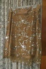 VINTAGE Style ~ CHAIN REACTION  ~ Lined SKIRT/SEQUINNS * Size L {16} * NWT *