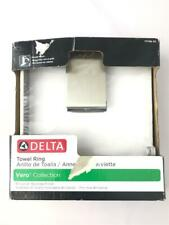* Delta Vero Brilliance Stainless Steel Wall Mount Towel Ring 77746-SS NEW