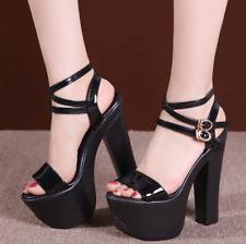 Womens Cross Strap Stiletto Ladies Platform High Heel Sandals Party Prom Shoes