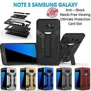 Samsung Note 5 Case Armor Cover Hard Kickstand Shockproof Tradesman Card Holder
