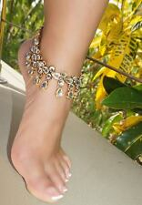 Jeweled Anklet Barefoot Sandals Wedding Foot Bling Vacation jewelry Bridal