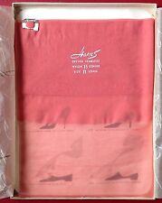 RARE Vintage Hanes Calze in Nylon Rosa Caldo Lungo 11 15 DENARI