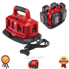 Milwaukee Battery Charger 6 Port Sequential Charging Station Power Tool 18V M18