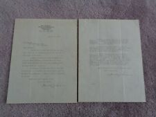 1917 White Sox Giants World Series Ticket Letter to Mr Manley Black Sox