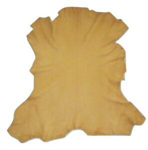 Premium Buckskin Tan Full Grain Goatskin Leather Hide Native Crafts Moccasins