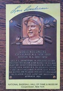 Lou Boudreau Cleveland Indians Signed HOF Plaque Postcard