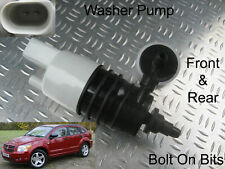 Front & Rear Windscreen Washer Pump Dodge Caliber 2006 2007 2008 2009 1.8 2.0