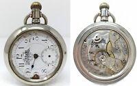 Orologio Marvin & Co ferrovie philadelphia silverode pocket watch railways 58mm
