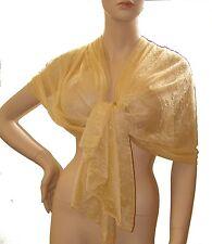 SCIARPA FOULARD Stola collezione donna coprispalle Tinta Unita giallo