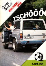 Abschiedsspiel Rainer Bohnhof 04.09.84 Weltmeister von 1974 - Borussia verstärkt