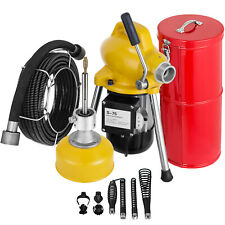 34 5 Drain Cleaner 400 W Sectional Sewer Snake Drain Auger Cleaning Machine