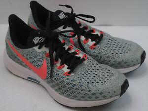 Nike Air Zoom Pegasus 35 Women's Size 8Y Green/Orange/White Running Shoes 8105
