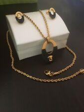 "22"" Torsade Medusa Head Necklace, Pendant & Earrings Set 18k Gold Filled"