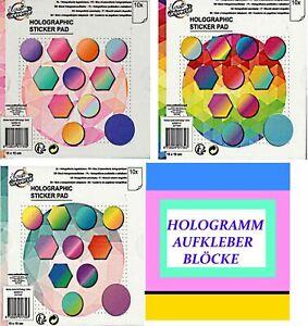 Holographic Papier selbstklebend  Hologrammpapier Block - basteljulchen-de