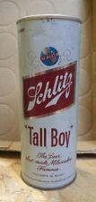 New listing Circa 1970 Vintage Schlitz Tall Boy Beer Can Pull Tab 3/4 quart