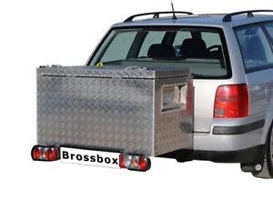 Anhängerkupplungs-Box Komplettsystem AHK 354 L Heckbox Kiste u. Träger