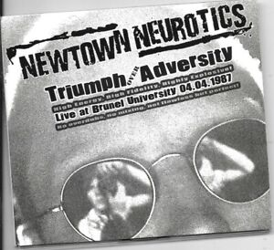 NEWTOWN NEUROTICS Triumph Over Adversity Live 1987 CD great British punk band