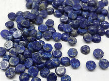3mm 10cts Natural Loose Afghan Lapis Gem Cabochon Non-treated 80pc per Lot