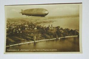 Ak Friedrichshafen Graf Zeppelin IN Pieno Fahrt Dal Aeromobili Di Timbro 1933