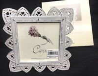 "Burnes of Boston - Carr Frames - Giverny Metals - White Picture Frame 5"" X 5"""