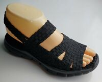 Bernie Mev Black Stretch Fabric Woven Mary Jane Ankle Strap Sandal (36) 6 M