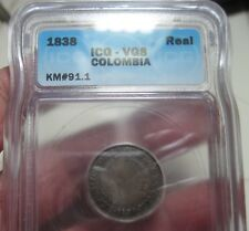 1838 (COLOMBIA) 1 REAL (SILVER)  BOGOTA  ---ICG---