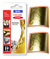 E-175 food grade  100% Pure 24k Gold Leaf Edible 30 mm sheets 1 x  10 sheets