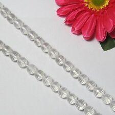 Strang weiß BergKristall 10mm kugeln facettiert Lose Perlen