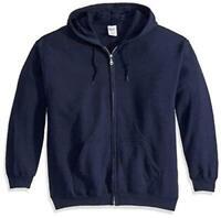 Gildan Men's Fleece Zip Hooded Sweatshirt Navy Medium, Navy, Size Medium tLVt