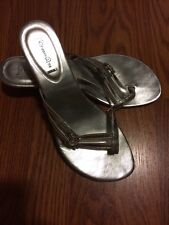 EUC!! Vintage 90's Studio HD2 Silver Heels Shoes Punk Goth Grunge Lolita Size 8