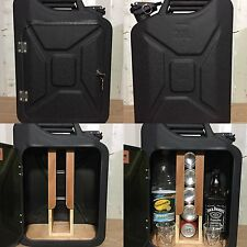 Upcycled Jerry Can Mini Bar, Picnic, Camping, Recycled, New, Drinks Cabinet,