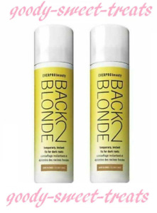 2 X EVERPRO BEAUTY BACK 2 BLONDE TEMPORARY ROOT CONCEALER SPRAY COVER UP - DARK