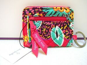 NWT VERA BRADLEY RUMBA CAMPUS DOUBLE ID CASE KEY RING SNAP COIN PURSE NEW W/TAG