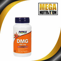 NOW Foods DMG 125mg 100 Veg Capsules | N-Dimethyl Glycine Behaviour Supplement