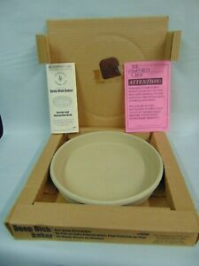 PAMPERED CHEF STONEWARE DEEP DISH BAKER #1390 NIB WITH INSTRUCTIONS DISCONTINUED