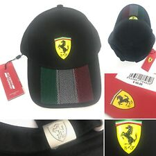 Ferrari Italian Flag Mens Cap Adjustable Strapback Hat Genuine Authentic