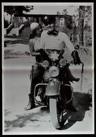 Manifesto Un Américain A Roma Alberto Colombes Harley Davidson Moto Voiture P03