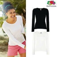 Fruit of the Loom Women's Lightweight Long Sleeve Cotton Tee Casual Lady-fit Top